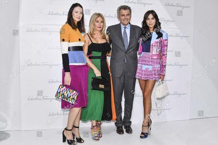 Stock Photo of Caitriona Balfe, Hofit Golan, Ferruccio Ferragamo and guest in the Front Row