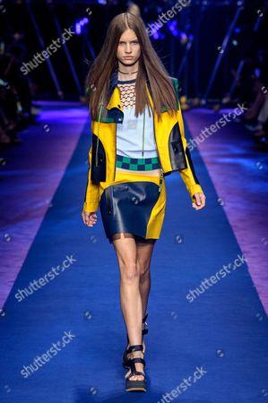 Editorial image of Versace show, Runway, Spring Summer 2017, Milan Fashion Week, Italy - 23 Sep 2016