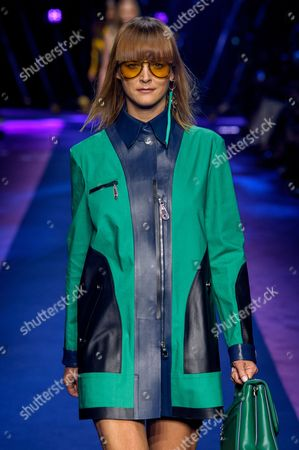 Stock Picture of Carmen Kass on the catwalk