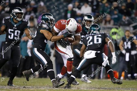 David Johnson, Brandon Graham, Walter Thurmond Arizona Cardinals' David Johnson rushes during the second half of an NFL football game against the Philadelphia Eagles, in Philadelphia