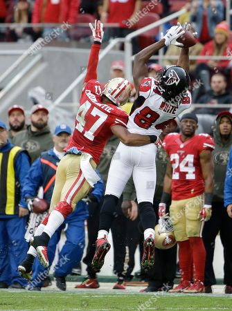 Roddy White, Marcus Cromartie Atlanta Falcons wide receiver Roddy White (84) cannot catch a pass while defended by San Francisco 49ers defensive back Marcus Cromartie (47) during the second half of an NFL football game in Santa Clara, Calif