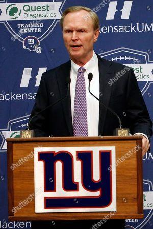 John Mara New York Giants owner John Mara announces Ben McAdoo as the new head coach of the NFL football team, in East Rutherford, N.J