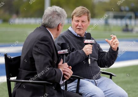 Stock Photo of Leigh Steinberg Sports agent Leigh Steinberg, right, is interviewed before the Memphis NFL football pro day, in Memphis, Tenn
