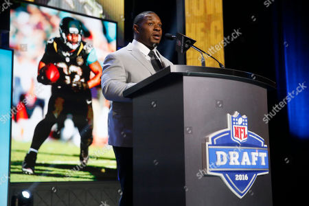 Maurice Jones-Drew Former Walter Payton Men of the Year Maurice Jones-Drew announces that the Jacksonville Jaguars selects Maryland's Yannick Ngakoue as the 69th pick in the third round of the 2016 NFL football draft, in Chicago