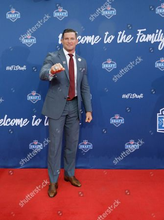 Stock Photo of Steve Weatherford Former Walter Payton Men of the Year Steve Weatherford poses for photos upon arriving for the third round of the 2016 NFL football draft at Auditorium Theatre of Roosevelt University, in Chicago