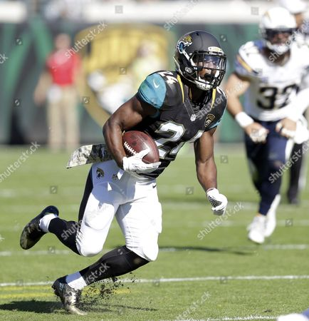 T.J. Yeldon, Eric Weddle Jacksonville Jaguars running back T.J. Yeldon (24) runs past San Diego Chargers free safety Eric Weddle (32) after a reception during the first half of an NFL football game in Jacksonville, Fla. Yeldon, drafted in the second round by Jacksonville in 2015, ran for 740 yards last season, the most by a Jaguars rookie since Maurice Jones-Drew gained 941 yards in 2006. Yeldon started 12 games but missed the last three with a knee injury