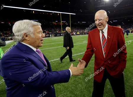 new arrival 03d85 7a03e Robert Kraft, Bob McNair New England Patriots team owner Robert Kraft,  left, and