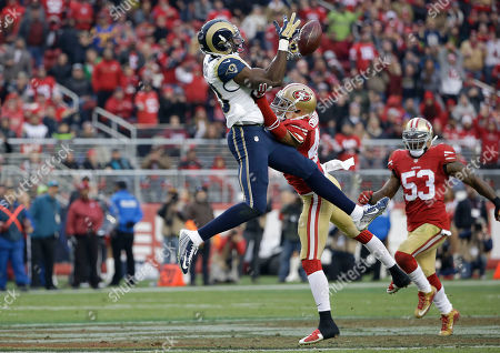 Brian Quick, Marcus Cromartie San Francisco 49ers defensive back Marcus Cromartie (47) breaks up a pass intended for St. Louis Rams wide receiver Brian Quick during an NFL football game in Santa Clara, Calif