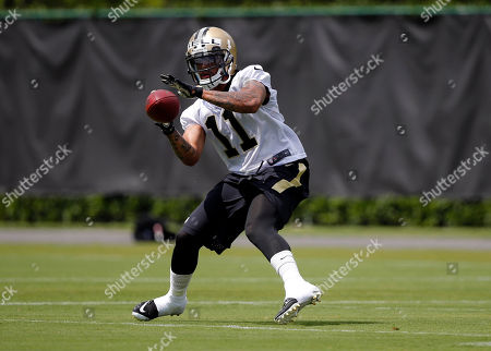 Reggie Bell New Orleans Saints wide receiver Reggie Bell (17) goes through drills during an NFL football practice in Metairie, La