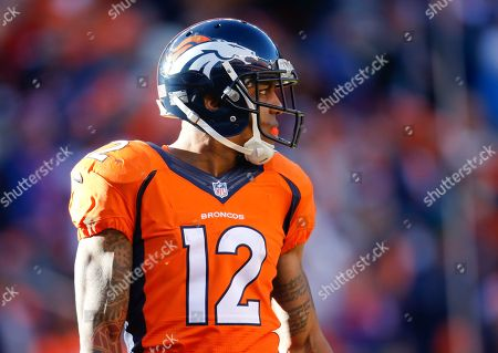Denver Broncos wide receiver Andre Caldwell watches during the first half in an NFL football divisional playoff game against the Pittsburgh Steelers, in Denver