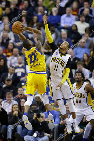 Editorial photo of Warriors Pacers Basketball, Indianapolis, USA