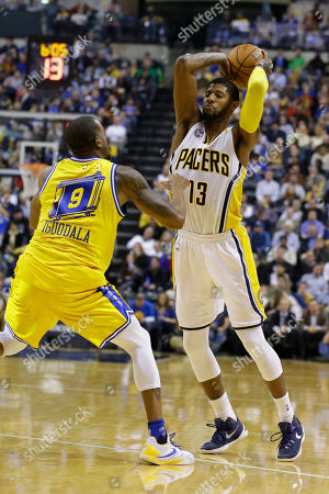 Editorial image of Warriors Pacers Basketball, Indianapolis, USA