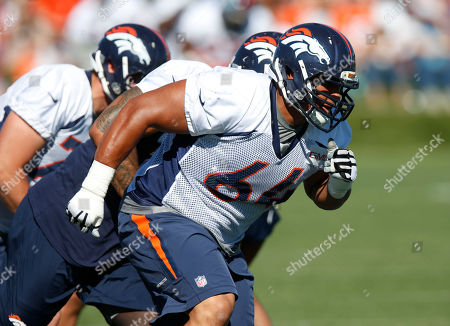 Shelley Smith Denver Broncos guard Shelley Smith (64) during the morning session at the team's NFL training camp, in Englewood, Colo