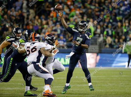 Tarvaris Jackson Seattle Seahawks quarterback Tarvaris Jackson passes against the Denver Broncos in the second half of a preseason NFL football game, in Seattle
