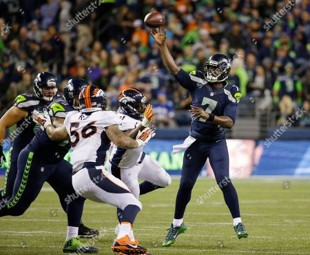 Tarvaris Jackson Seattle Seahawks quarterback Tarvaris Jackson passes against the Denver Broncos during the second half of a preseason NFL football game, in Seattle