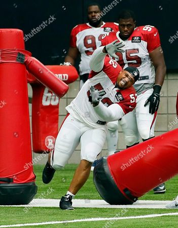 LaMarr Woodley Arizona Cardinals' LaMarr Woodley (52) works out during an NFL football training camp, in Glendale, Ariz