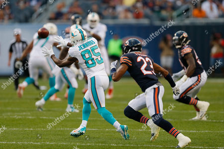 Kyle Fuller, Greg Jennings Miami Dolphins wide receiver Greg Jennings (85) makes a catch in from of Chicago Bears cornerback Kyle Fuller (23) during the first half of an NFL preseason football game in Chicago