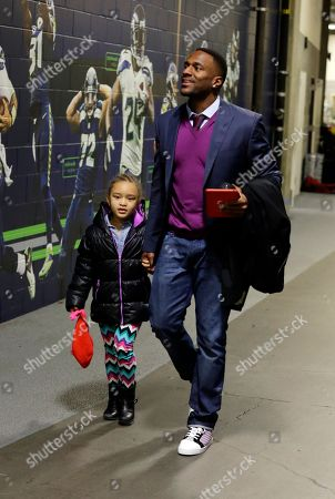 Jordan Babineaux Former Seattle Seahawks' Jordan Babineaux and daughter Jada arrive before the NFL football NFC Championship game against the Green Bay Packers, in Seattle
