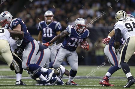 Jonas Gray New England Patriots running back Jonas Gray (35) carries in the first half of a preseason NFL football game against the New Orleans Saints in New Orleans