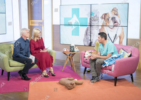 Phillip Schofield and Holly Willoughby with Paul Manktelow