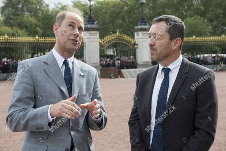 Prince Edward with Chris Boardman