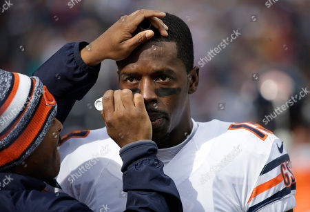 Josh Morgan Chicago Bears wide receiver Josh Morgan (19) has eye black applied to his eyes before an NFL football game against the New England Patriots, in Foxborough, Mass
