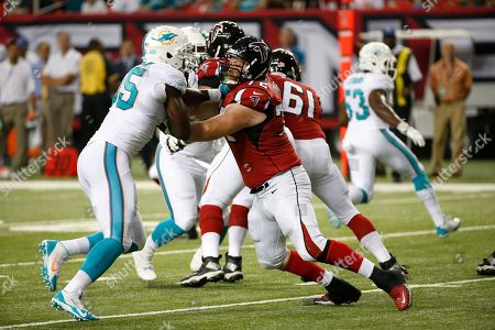 Sam Baker,Dion Jordan Atlanta Falcons tackle Sam Baker (72) blocks Miami Dolphins defensive end Dion Jordan (95) during the first half of an NFL preseason football game, in Atlanta