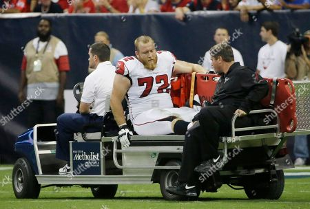 Sam Baker Atlanta Falcons' Sam Baker (72) leaves the field on a cart after he was injured during the second quarter of a preseason NFL football game against the Houston Texans in Houston. The Falcons released the veteran offensive tackle on . Baker started 61 of his 70 career games, but injuries have hindered his progress