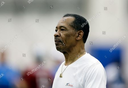 Charlie Sanders Detroit Lions Assistant Director of Pro Personnel Charlie Sanders is seen after an NFL football organized team activity in Allen Park, Mich