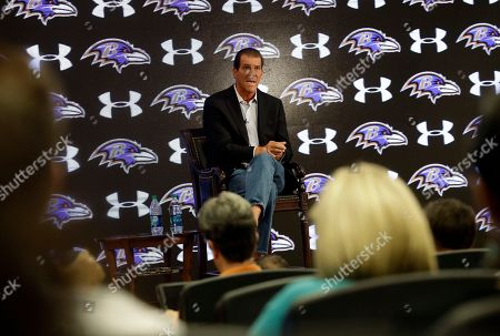 Steve Bisciotti Baltimore Ravens owner Steve Bisciotti addresses the controversy surrounding former running back Ray Rice at an NFL football news conference, in Owings Mills, Md