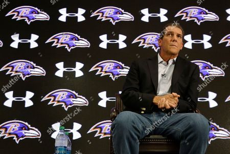 Steve Bisciotti Baltimore Ravens owner Steve Bisciotti listens to a reporter's question as he addresses the controversy surrounding former running back Ray Rice at an NFL football news conference, in Owings Mills, Md