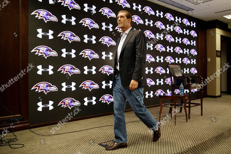 Steve Bisciotti Baltimore Ravens owner Steve Bisciotti walks offstage after addressing the controversy surrounding former running back Ray Rice at an NFL football news conference, in Owings Mills, Md