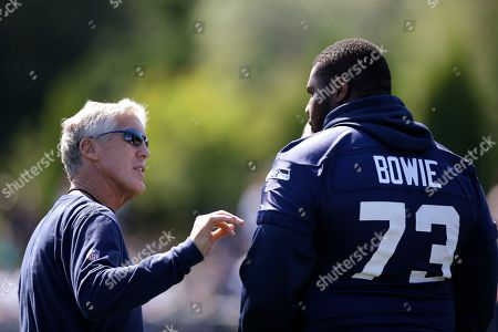 Editorial picture of Seahawks Camp Footnball, Renton, USA