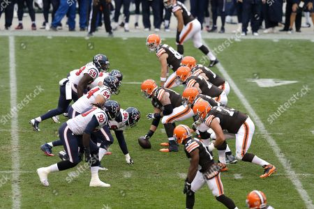 Nick McDonald Cleveland Browns center Nick McDonald, center, prepares to snap the ball against the Houston Texans in the second quarter of an NFL football game, in Cleveland