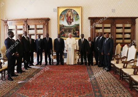 Pope Francis during the meeting with the President of the Democratic Republic of the Congo Joseph Kabila