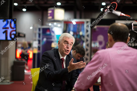 Shadow chancellor John McDonnell being interviewed by Norman Smith