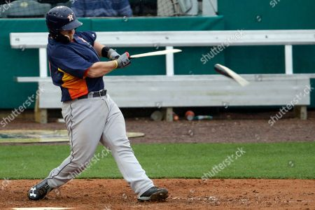 Chris Wallace Houston Astros catcher Chris Wallace breaks his bat while hitting a pitch off St. Louis Cardinals pitcher Keith Butler during the ninth inning of an exhibition spring training baseball game in Jupiter, Fla., . The Cardinals won 10-2