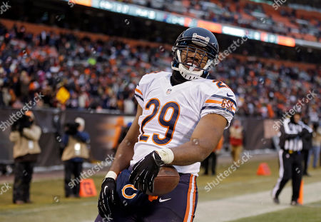 Michael Bush Chicago Bears running back Michael Bush smiles in the end zone after a 40-yard touchdown run against the Cleveland Browns in the fourth quarter of an NFL football game, in Cleveland