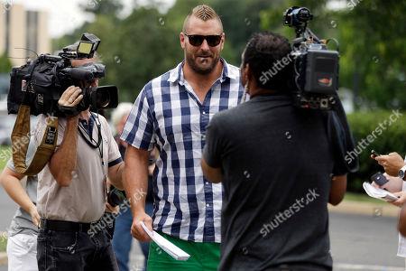 Todd Herremans Philadelphia Eagles' Todd Herremans arrives at the team's NFL football training camp in Philadelphia