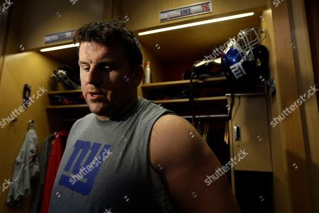 Stock Picture of Chris Snee New York Giants guard Chris Snee talks during a media availability at NFL football practice, in East Rutherford, N.J