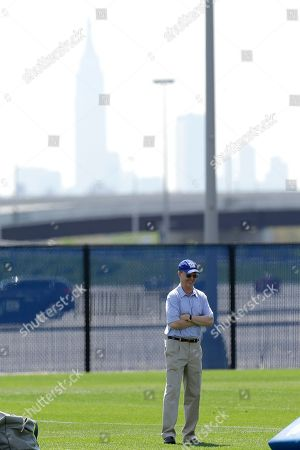 John Mara New York Giants owner John Mara stands on a practice field during NFL football rookie minicamp, in East Rutherford, N.J