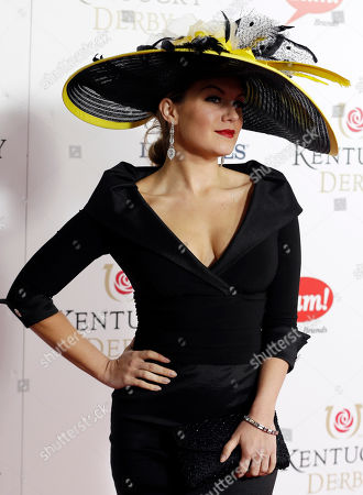 Miss American 2013 Mallory Hagan arrives to attend the 139th Kentucky Derby at Churchill Downs, in Louisville, Ky