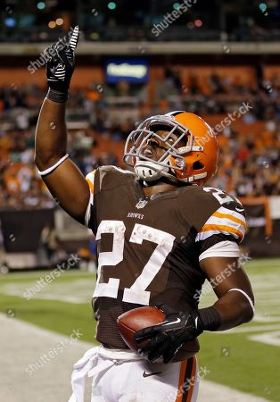 Brandon Jackson Cleveland Browns running back Brandon Jackson celebrates after catching a 14-yard pass for a touchdown in the fourth quarter of a preseason NFL football game against the Detroit Lions, in Cleveland