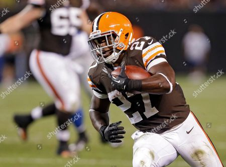 Brandon Jackson Cleveland Browns running back Brandon Jackson heads for the end zone with a 14-yard pass reception for a touchdown in the fourth quarter of a preseason NFL football game against the Detroit Lions, in Cleveland