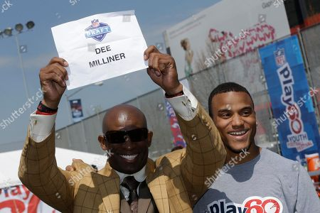 Dion Sanders, Dee Milliner Former NFL player Dion Sanders, left, fools around with NFL draft prospect Dee Milliner of Alabama during a youth football clinic in New York, . Many of the top 2013 NFL draft picks are in town for the NFL draft at Radio City Music Hall that starts Thursday