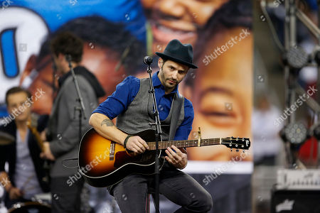 Tony Lucca Musician Tony Lucca performs during the halftime period of an NFL football game between the Detroit Lions and the Green Bay Packers at Ford Field in Detroit