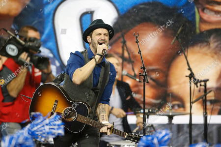 Tony Lucca Musician Tony Lucca performs during the half-time period of an NFL football game between the Detroit Lions and the Green Bay Packers at Ford Field in Detroit