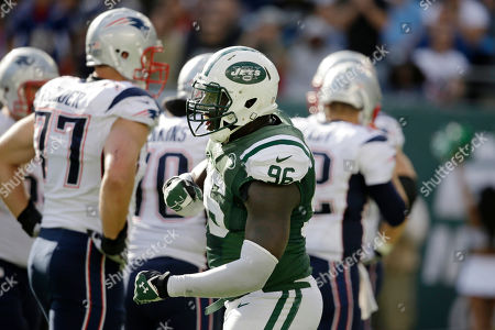 Muhammad Wilkerson New York Jets defensive end Muhammad Wilkerson (96) celebrates after sacking New England Patriots' Tom Brady during the second half of an NFL football game in East Rutherford, N.J