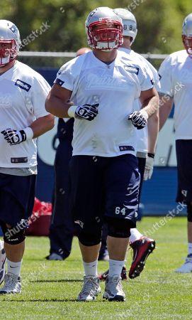 Chris McDonald New England Patriots offensive lineman Chris McDonald during a team practice in Foxborough, Mass