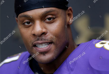 Visanthe Shiancoe Baltimore Ravens tight end Visanthe Shiancoe speaks at a news conference after NFL football training camp at the team's practice facility in Owings Mills, Md